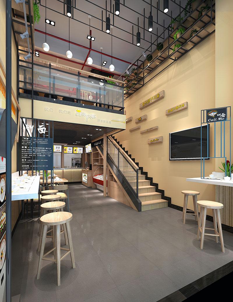 117平方米的四川风味的面馆设计落户深圳