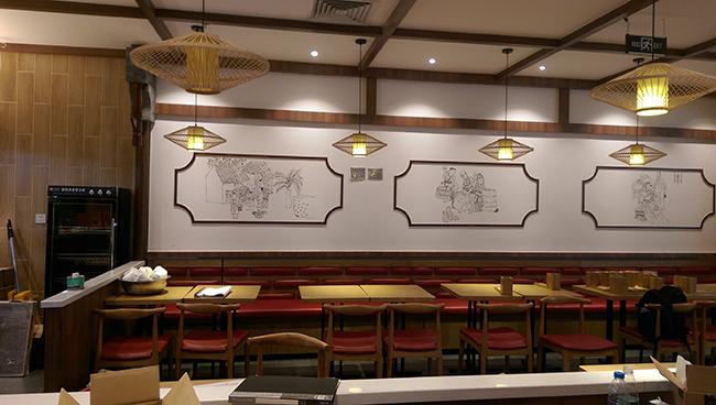 广州120平的小吃餐厅装修