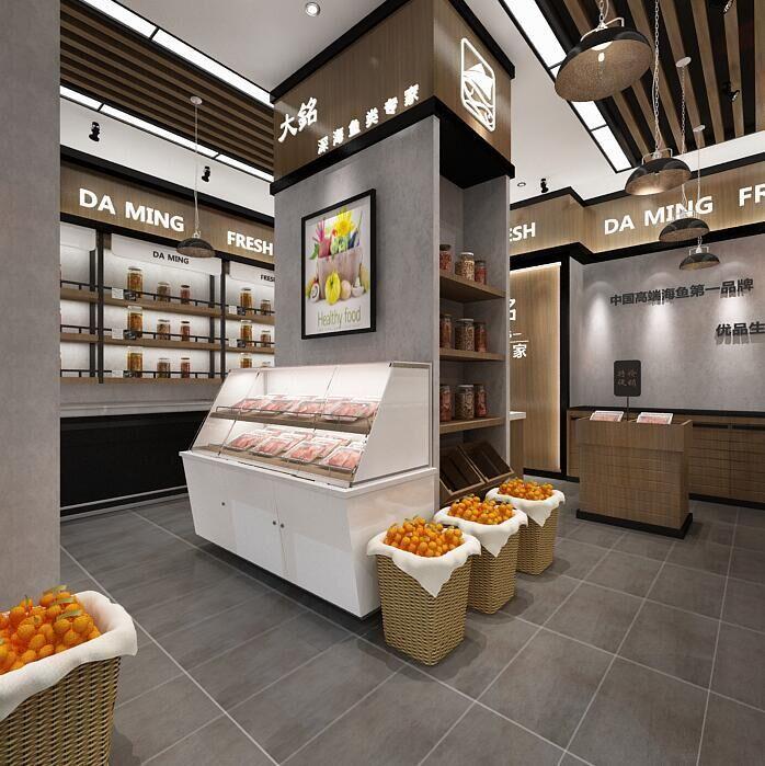 广州32平的海鲜店面设计